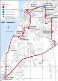 red route bus map [Click here to view full size picture]
