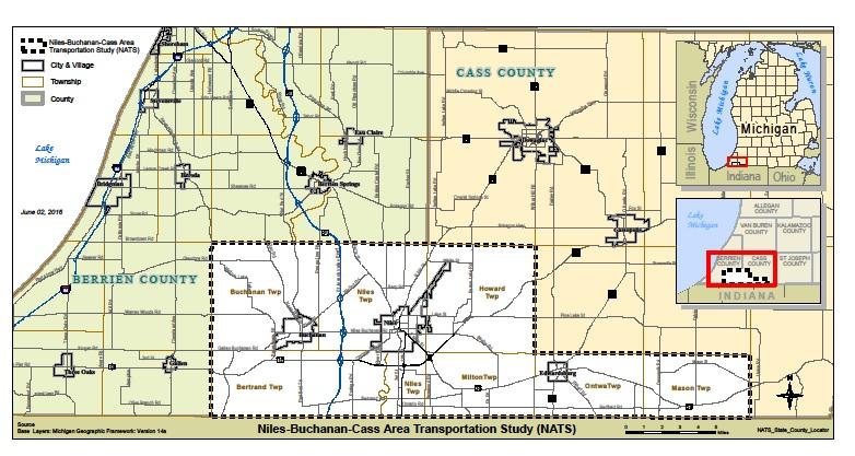 Buchanan Michigan Map.Swmpc Niles Buchanan Cass Area Transportation Study Mpo
