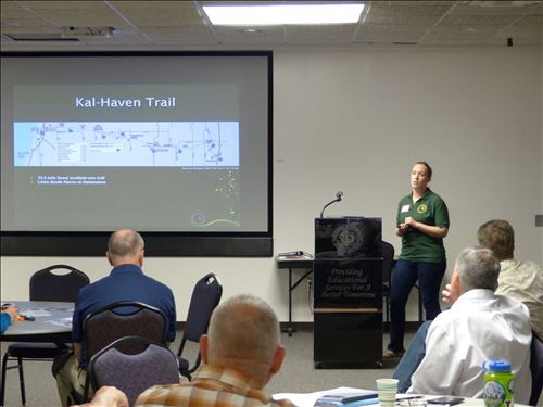 Kal-Haven/Van Buren Trail Updates Presentation- Jill Sell, MDNR [Click here to view full size picture]