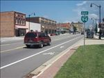 Bike Lanes along the I-94 Business Loop in Benton Harbor [Click here to view full size picture]