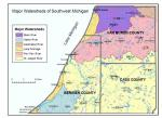 Watersheds of Southwest Michigan - click image for larger display [Click here to view full size picture]